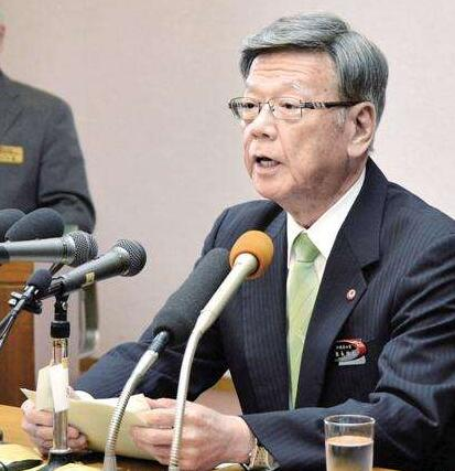 日防卫大臣会见冲绳知事 美军基地搬迁分歧犹大