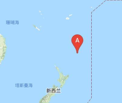 新西兰克马德克群岛附近发生6.2级左右地震