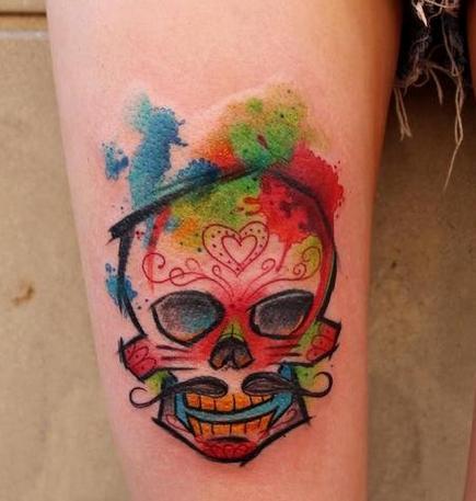 女孩因右手纹8个骷髅头难找工作遂自杀 你怎么看女孩纹身?