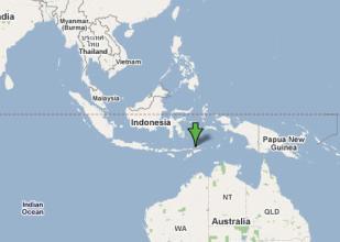印尼海域发生5.0级地震 震源深度173.5公里