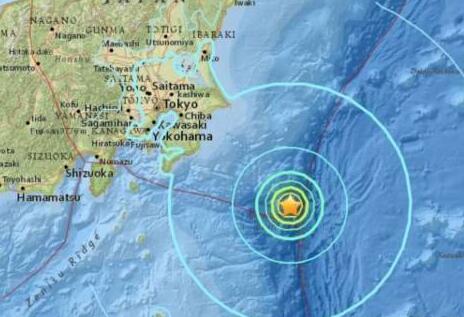 日本本州东岸远海发生5.9级地震 震源深度10千米