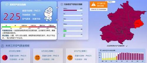 北京大部空气重度污染午后暂好转 下周仍雨雪难觅