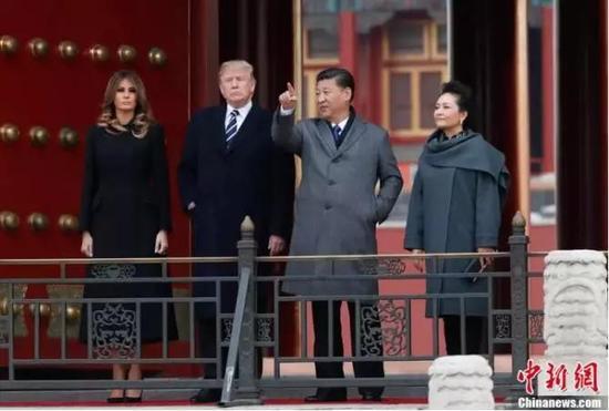 外媒谈特朗普首次访华:美须尊重中国全球地位