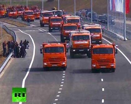 普京驾车开通克里米亚大桥 乌克兰:俄忽视国际法
