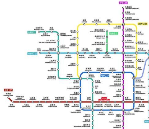 北京地铁路线图2019