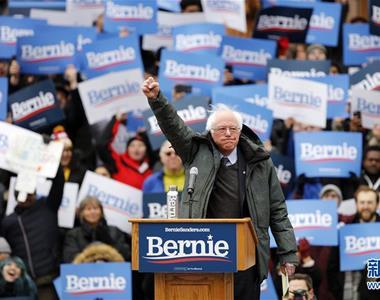 伯尼·桑德斯在纽约举行首场总统竞选集会