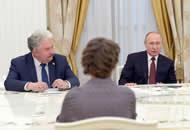 普京高票连任后会见参与总统选举的其他候选人